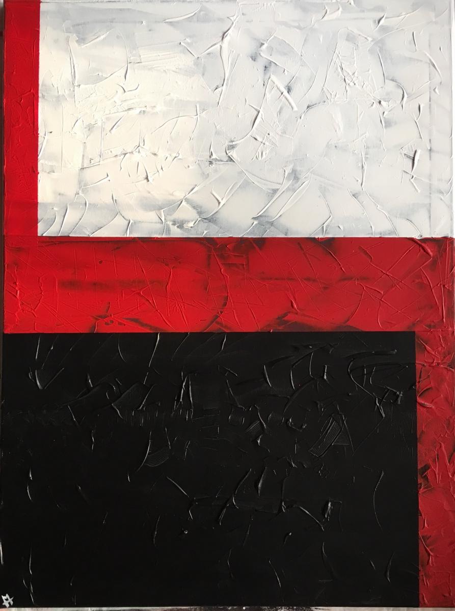 Rot durch Schwarz und Weiß